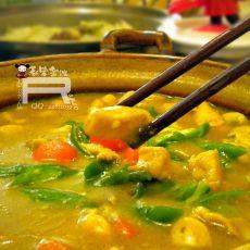 泰式鲜菇咖喱鸡煲的做法