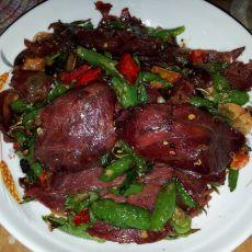 青椒卤牛肉的做法