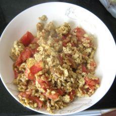 西红柿炒鸡蛋虾米皮的做法