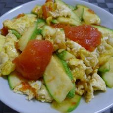 玉瓜番茄炒鸡蛋的做法