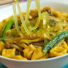 咖喱牛肚粉丝汤的做法