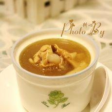 田七霍斛炖鸡汤的做法