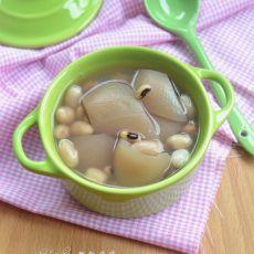 猪皮花生眉豆汤