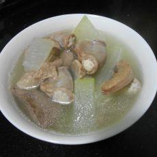 猪杂冬瓜汤的做法