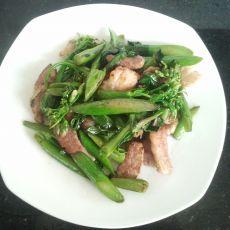 猪肉炒芥兰